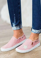 Star Hollow Out Round Toe Sneakers
