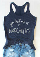 You Had Me At Margaritas Heart Tank