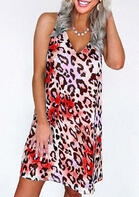 Leopard Criss-Cross Open Back Mini Dress