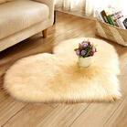 Love Heart Soft Faux Plush Carpet Rug
