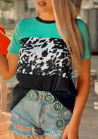 Cow Color Block T-Shirt