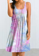 Tie Dye Ruffled Mini Dress