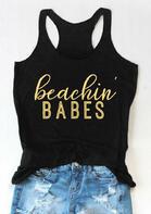Beachin' Babes O-Neck Casual Tank