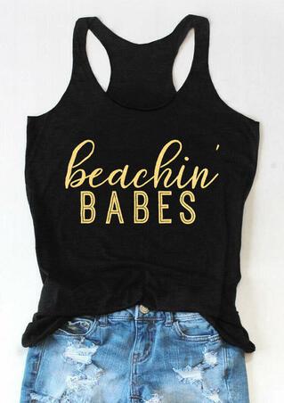 Beachin' Babes O-Neck Casual Tank - Black