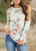 Floral Cold Shoulder Blouse