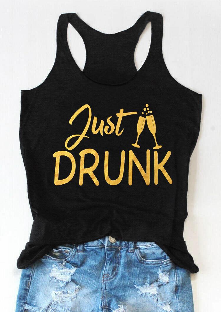 Just Drunk Tank - Black фото