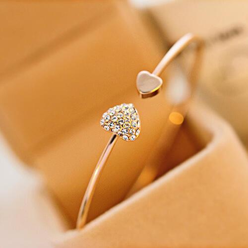 Fashion Rhinestone Love Heart Bracelet фото
