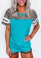 Leopard Striped Baseball T-Shirt