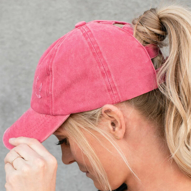 Hats Fashion Hollow Out Ripped Washed Denim Baseball Cap in Black,Watermelon Red,Navy Blue. Size: One Size фото