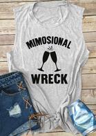 Mimosional Wreck O-Neck Casual Tank