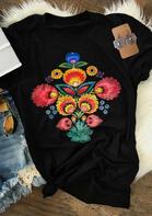 Dahlia Floral T-Shirt