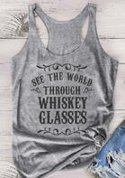 See The World Through Whiskey Glasses Tank