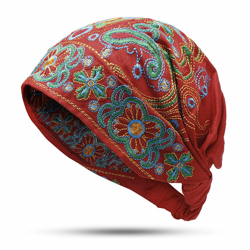 Vintage Embroidered Floral Hollow Out Hat фото
