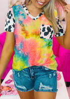 Tie Dye Cow Pocket T-Shirt