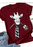 Giraffe Rose T-Shirt