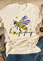 Bee Happy Sunflower T-Shirt