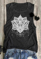 Mandala Lotus O-Neck Tank