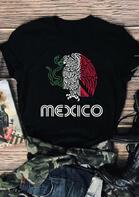 Mexico Mexican Flag T-Shirt Tee