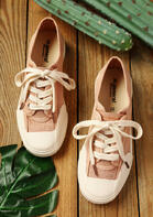 Lace Up Flat Sneakers