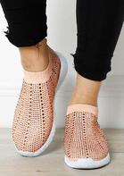 Rhinestone Glitter Slip On Flat Sneaker