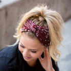 Paisley Twist Wide Headband