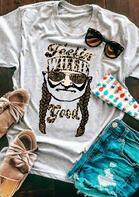 Feelin' Willie Good Leopard Glasses T-Shirt