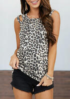 Leopard Hollow Out Camisole
