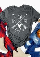 Mom Life Heart Arrow T-Shirt