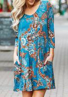 Paisley Floral Pocket Mini Dress