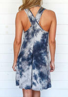 Tie Dye Sleeveless Mini Dress