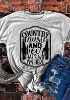 Country Music And Beer O-Neck T-Shirt