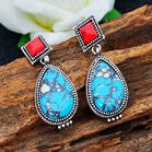 Bohemian Turquoises Water Drop Earrings