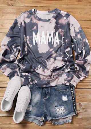 Bleached Mama O-Neck Sweatshirt - Gray