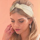 Mesh Twist Cut Out Wide Headband