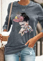 Frida Kahlo Letter Flower T-Shirt
