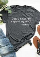 Funny History Teacher O-Neck T-Shirt