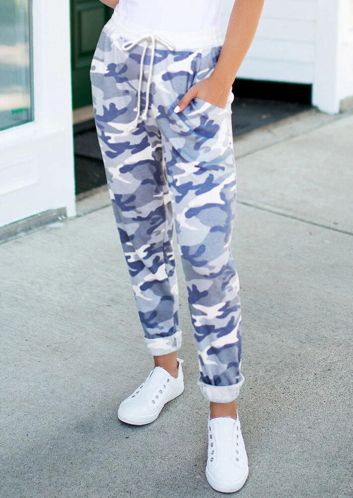 FairySeason / Camouflage Drawstring Pocket Casual Pants