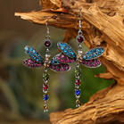Dragonfly Crystal Rhinestone Earrings