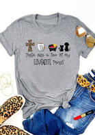 Leopard Cross Pet Are My Favorite Things T-Shirt