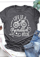 Life Is A Beautiful Ride Bike Heart T-Shirt