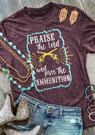 Western Praise The Lord Graphic T-Shirt