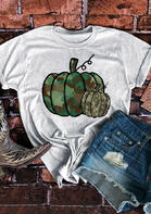 Thanksgiving Camouflage Pumpkin T-Shirt