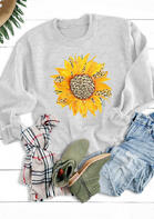Sunflower Leopard O-Neck Sweatshirt