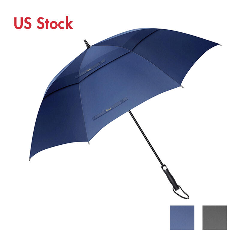 Outdoor Products 30 Inch Windproof Waterproof Double Canopy Golf Umbrella in Black,Blue. Size: 30 Inch