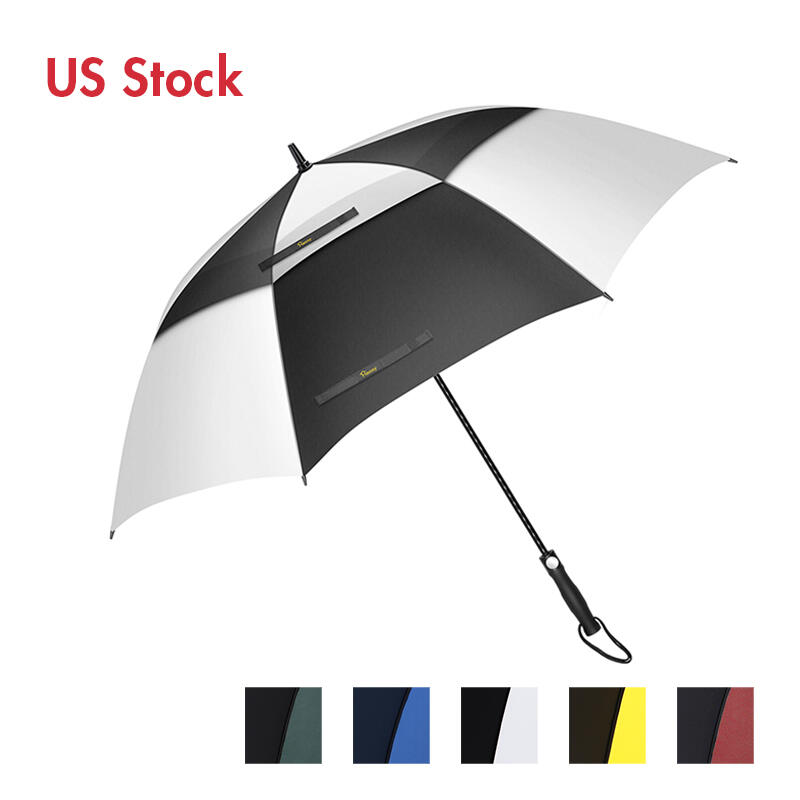 Outdoor Products 34 Inch Windproof Waterproof Double Canopy Golf Umbrella in Green,White,Blue,Red,Yellow. Size: 34 Inch