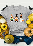 Halloween Gnomies Pumpkin Face T-Shirt