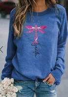 Faith Dragonfly Ribbon Pullover Sweatshirt