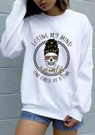 Leopard Momlife Skull Sweatshirt