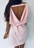 Open Back Pocket Mini Dress