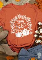 Thanksgiving Happy Fall Pumpkin T-Shirt